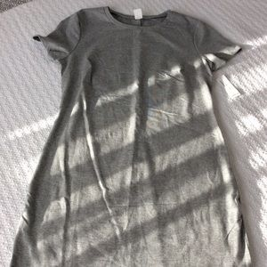 Old Navy Jersey shirt dress, small, gray